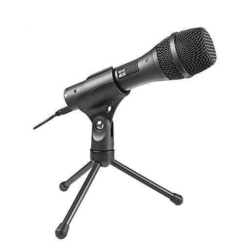 Preisvergleich Produktbild KAIFH Mikrofon Singen Computer Laptop Handy Live-Aufnahme Mikrofon Kreativ Bruchsicher Stoßfestes Kapazitives Aufnahmespiel-Sprachmikrofon