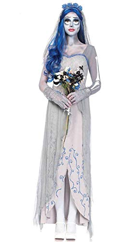 WEII Halloween-Kostüme White Gown Robe Rock Ghost Braut Maskerade Cosplay Kostüm,Bild,XL