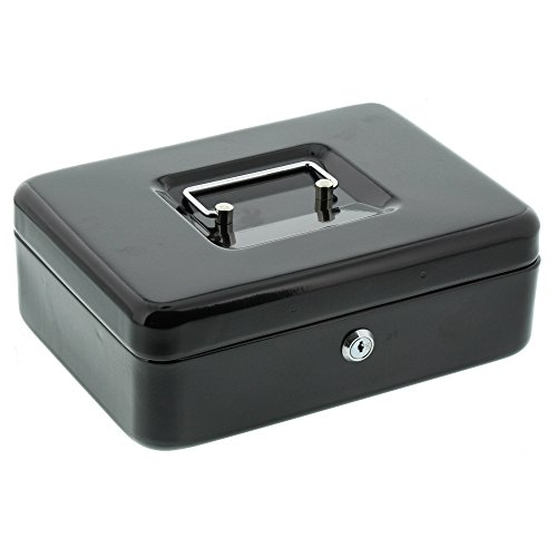BURG-WÄCHTER, Geldkassette Money 5025, Stahlblech, Schwarz, Inkl. 2 Schlüssel und Hartgeldeinsatz (Nicht Verarbeitete Lebensmittel)