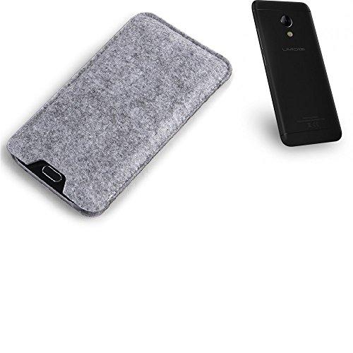 K-S-Trade Filz Schutz Hülle für UMIDIGI C2 Schutzhülle Filztasche Filz Tasche Case Sleeve Handyhülle Filzhülle grau