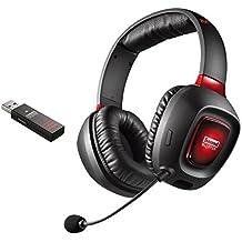 Creative Sound Blaster Tactic3D Rage v2.0 - Auriculares de diadema cerrados inalámbricos (con micrófono), negro