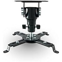 schwarz Belastbarkeit bis 10kg B-TECH BT883//B Projektor Deckenhalterung mit langem ausziehbarem Arm
