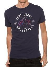 Pepe Jeans - T-shirt - Direction Flag - Bleu