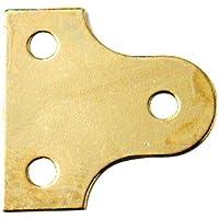 Bulk Hardware - Piastra circolare per vetro, 38 mm, placcata in ottone, 4 pezzi - Cornice In Ottone