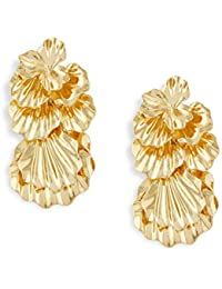 Shaze The Magmatic Gold Brass Earrings for Women