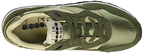 Diadora N-92, Scarpe Low-Top Unisex-Adulto Olivine Green Tidal Foam