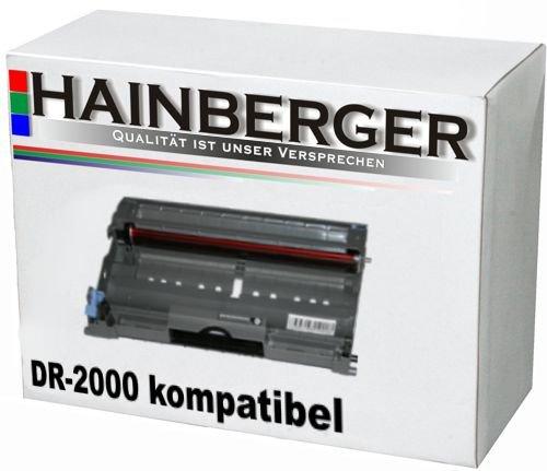 Hainberger Trommeleinheit für Brother DR-2000 - Schwarz,12.000 Seiten, kompatibel zu DR-2000. Drum Geeignet für Brother HL-2030 HL-2040 , HL-2070N , DCP-7010 , DCP-7025 , MFC-7420 , MFC-7820N , MFC-7225N , DR-2000 Drum - Kompatibel Kopierer Trommel