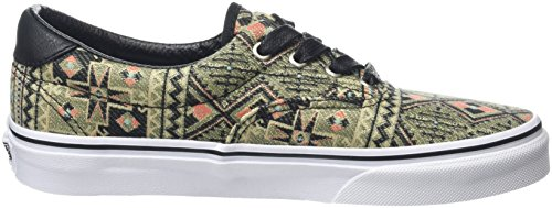 Vans Era 59, Baskets Basses Mixte Adulte Multicolore (Moroccan Geo black/ivy green)