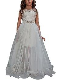 VIPbridal Due pezzi merlettano le ragazze lunghe veste il primo vestito di  comunione 40989d169aa