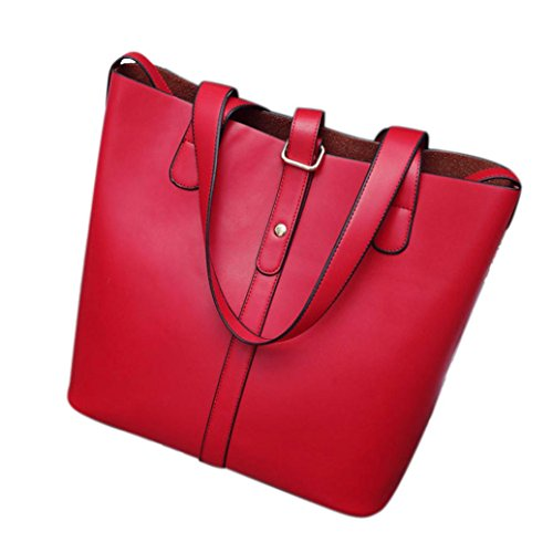 Transer , Damen Schultertasche Blcak,Blue,Orange,Red rot