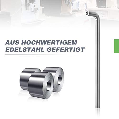 AIEVE Angle Wrench Herramienta de reemplazo de reparación de llaves de 4 mm Compatible con la cafetera Nespresso AEG Jura De Longhi