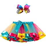 Adorel Tutu Gonna di Tulle Abitini Balletto Bambina B 4-8 Anni