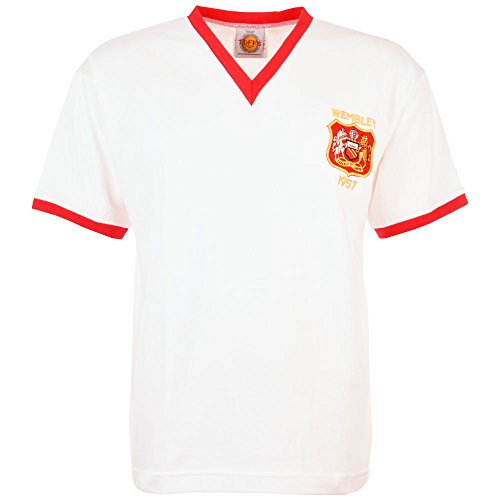 TOFFS Manchester United 1957 FA Cup Final Retro Football Shirt (LARGE)
