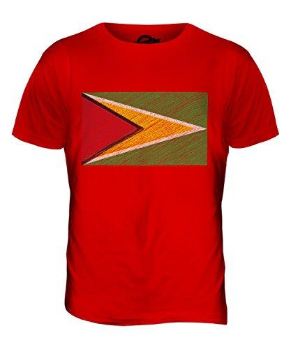 CandyMix Guyana Kritzelte Flagge Herren T Shirt Rot