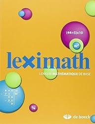 Leximath Lexique Mathematique de Base