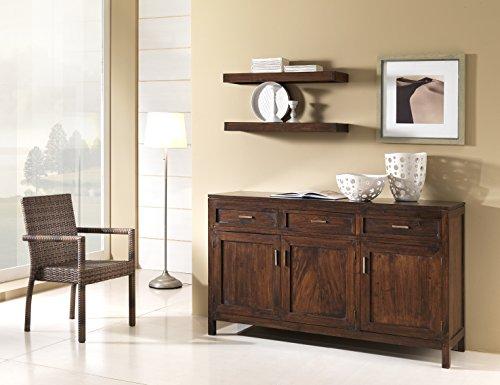 Mobile Buffet stile etnico coloniale moderno in legno massello di Teak pregiatissimo - PREZZO OUTLET ONLINE