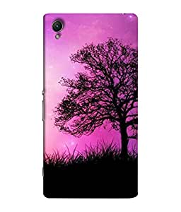 PrintVisa Nature Cute 3D Hard Polycarbonate Designer Back Case Cover for Sony Xperia C6 Ultra Dual
