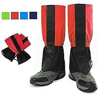 Polainas de legging de nieve, G-Hawk® velcro impermeables de pierna alta, para caminar, esquiar, caminar, podar hierba - rojo
