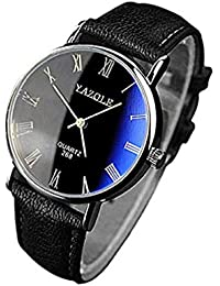 Reloj de Cuarzo para Hombre, despacho de Reloj de Moda Casual de Negocios, Relojes Estuche de dial Redondo, Banda cómoda…
