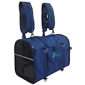 6-in-1-STURDY-Airline-Approved-Pet-Carrier-Backpack-Front-Pack-Shoulder-Bag-Dog-Carriers-Cat-Carriers-Dog-Soft-Sided-Carriers-Small-Animal-Carriers-Pet-Travel-Carrier-Car-Seat-Crate-Dog-purse