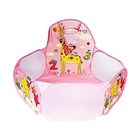 Kinder Baby Bällebad, YKS Beweglicher Hexagon Ballpool Pool Bällepool Drinnen und draußen , Kinder Spielzeug Spiel Zelt (Smoby Kletterturm)