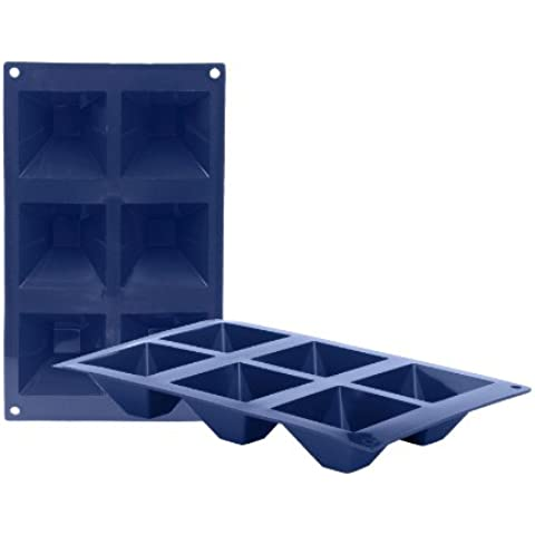 Ibili Blueberry - Molde, 6 cavidades pirámides