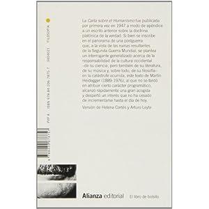 Carta Sobre El Humanismo (El Libro De Bolsillo - Filosofía)