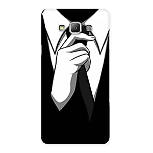 Knotting Tie Multicolor Back Case Cover for Galaxy A7