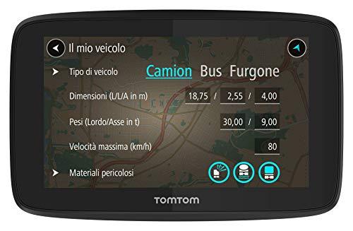 TomTom Go Professional 520 Navigazione Professionale per Veicoli di Grandi Dimensioni, Connessione Tramite Smartphone a Vita, 5', Nero