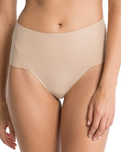 Spanx Undie-tectable Womens Smooth Comfort Nylon Thong for Light Waist, Tummy & Bottom Control without Panty Lines SP0115 - Available in Various Colours - 41XU1X9tkLL - Spanx Undie-tectable Womens Smooth Comfort Nylon Thong for Light Waist, Tummy & Bottom Control without Panty Lines SP0115 – Available in Various Colours