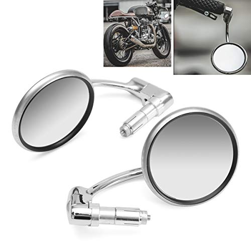 Strass-racer (Forspero 7/8inch Motorcycle Handlebar End View Metal Mirrors 360 ° Rotation Cafe Racer Chrome)