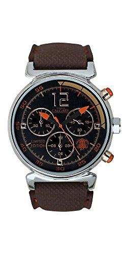 Relojes Calgary Tuareg, Reloj Deportivo para Mujer, Correa marrón de Silicona, Esfera marrón