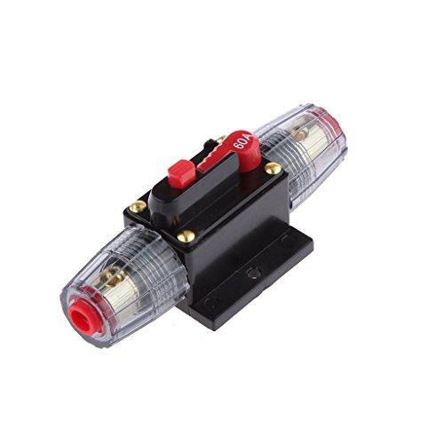Sharplace Inline Auto Leistungsschalter Manuellen Circuit Breaker Reset Schalter Audio Sicherung 12V-24V - 60A