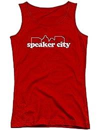 Old School - Die jungen Frauen den Sprecher-Stadt-Logo Tank Top