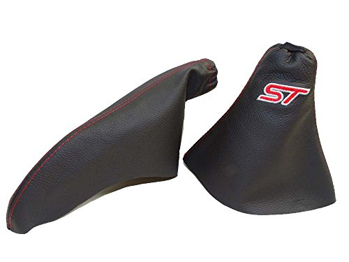 the-tuning-shop-ltd-gear-handbrake-gaiter-black-leather-red