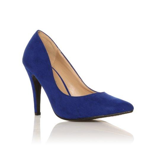 Darcy scarpe a punta blu elettrico tacchi a spillo camoscio sintetico decolleté Camoscio blu elettrico