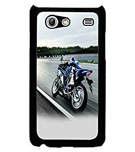 PRINTSWAG RACING BIKE Designer Back Cover Case for SAMSUNG GALAXY S ADVANCE