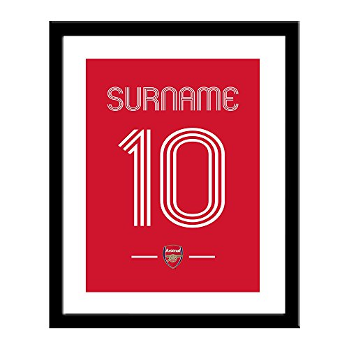Official Personalised Arsenal FC Retro Shirt 13 x 16 Framed Print - FREE PERSONALISATION