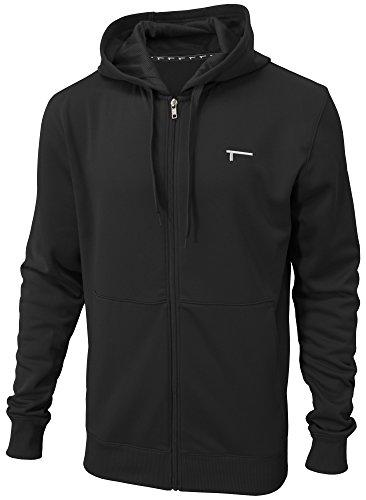 TREN Herren Thermal Performance Fleece Full Zip Hoody Kapuzensweater Schwarz 001 - L -