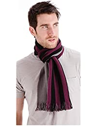 Mens Reversible Scarf with Stripes - Ideal for those