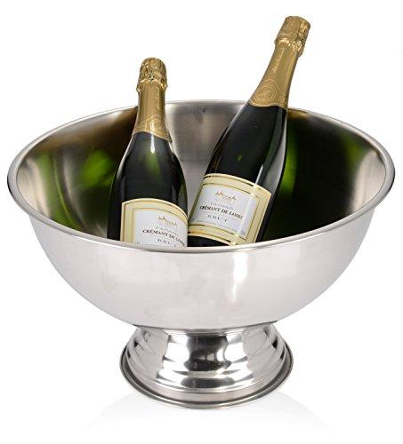 Bluespoon Champagner-Kühler aus Edelstahl 'Le Grandeur de la Maison' | Sekt-Schale mit 36 cm Durchmesser | Bietet genügend Platz für 4 bis 5 große Flaschen