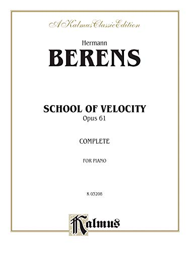 School of Velocity, Op. 61: Complete (Kalmus Edition)
