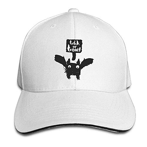 Men's Athletic Baseball Fitted Cap Hat Halloween Bat Durable Baseball Cap Hats Adjustable Peaked Trucker Cap JH3802 Cooperstown Bat
