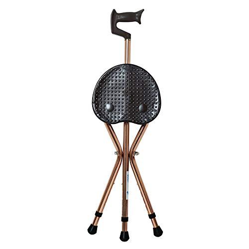 163086c3e Klappspaziergang, leicht verstellbare Aluminiumlegierung Cane Hocker Crutch  Chair Seat Walking Stick für ältere Menschen