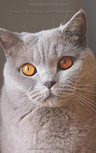 Kariertes Notizbuch für Katzenliebhaber: kariert | 130 Seiten | 5x8 Zoll (etwas kleiner als DIN A5) | Softcover