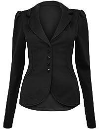Fast Fashion - Blazer Plaine Manches Longues Veste Bouton - Femmes