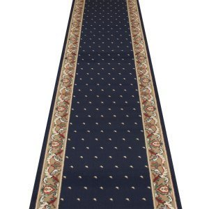 Pin Dot Navy Blau-Hall, Treppe Teppich Läufer (erhältlich in jede Länge bis 30m), L: 2.10m (6ft 11in) x W: 60cm
