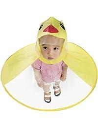 Sencillo Vida Chubasquero Niños, Impermeable Chaqueta de Lluvia con Capucha, Diseño de Pato,