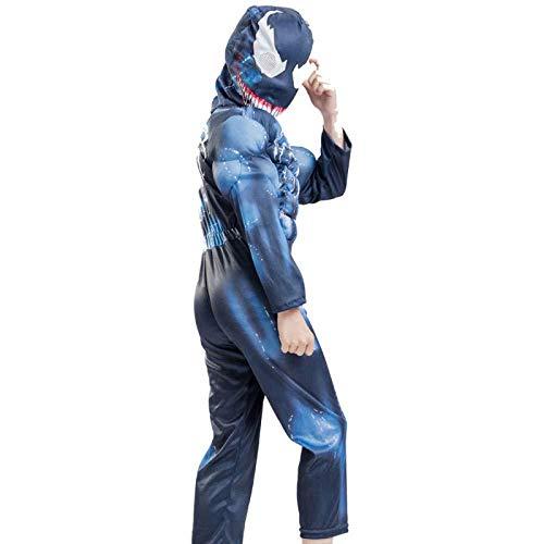 WEDSGTV Venom Cosplay Kostüm 3D Digitaldruck Party Kind Halloween Maskerade Film Superhero Disguise Kids Performance - Einfache Kostüm Basierend Auf Filme