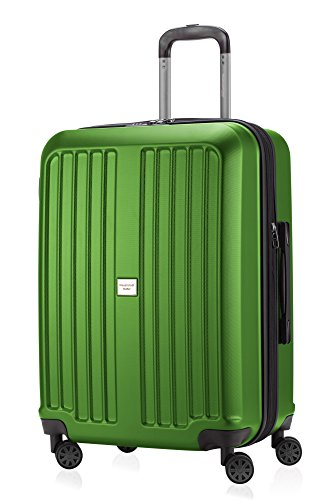 HAUPTSTADTKOFFER X-Berg - Valigia Rigida, Trolley medio ABS, TSA, Taglia 65 cm, 90 Litri, Verde